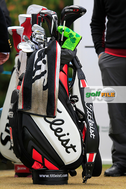 Maximilian KIEFFER (GER) on the 1st tee to start his round during Sunday's Final Round of the 2015 Dubai Duty Free Irish Open, Royal County Down Golf Club, Newcastle Co Down, Northern Ireland 5/31/2015.<br /> Picture Eoin Clarke, www.golffile.ie
