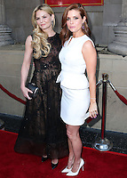 HOLLYWOOD, LOS ANGELES, CA, USA - SEPTEMBER 21: Jennifer Morrison, Joanna Garcia arrive at the Los Angeles Screening Of ABC's 'Once Upon A Time' Season 4 held at the El Capitan Theatre on September 21, 2014 in Hollywood, Los Angeles, California, United States. (Photo by Xavier Collin/Celebrity Monitor)
