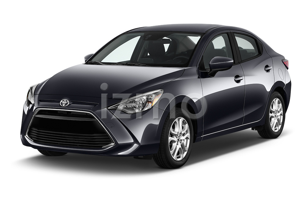 2017 Toyota Yaris-iA AT 4 Door Sedan Angular Front stock photos of front three quarter view