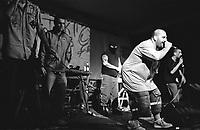 "Milano, ""Push it real - Leoncavallo walls total re-painting"", al centro sociale Leoncavallo tre giorni dedicati alla cultura hip hop. Concerto di vari rapper tra cui Marracash e componenti dei Club Dogo --- Milan, ""Push it real - Leoncavallo walls total re-painting"", three days dedicated to hip hop culture at Leocavallo social center. Live performance of various artists, among them Marracash and members of Club Dogo"