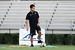 DURHAM, NC - SEPTEMBER 05: Presbyterian assistant coach Flo Liu. The Duke University Blue Devils hosted the Presbyterian College Blue Hose on September 5, 2017 at Koskinen Stadium in Durham, NC in a Division I college soccer game. The game ended in a 1-1 tie after two overtimes.