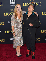 "LOS ANGELES, USA. July 10, 2019: Anneliese van der Pol & Raven-Symone at the world premiere of Disney's ""The Lion King"" at the Dolby Theatre.<br /> Picture: Paul Smith/Featureflash"