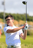 Ciaran Vaughan (Limerick) on the 1st tee during the Munster Final of the AIG Senior Cup at Tralee Golf Club, Tralee, Co Kerry. 12/08/2017<br /> <br /> Picture: Golffile | Thos Caffrey<br /> <br /> All photo usage must carry mandatory copyright credit     (&copy; Golffile | Thos Caffrey)