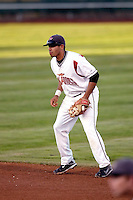 Juan Martinez of the Salem-Keizer Volcanoes in the final game of the Northwest League championship game against the Tri-City Dust Devils at Volcanoes Stadium, Keizer, Oregon - 9/10/2009. The Volcanoes won the deciding game, 2-1, in 13 innings to win the series, 3 games to 1..Photo by:  Bill Mitchell/Four Seam Images..