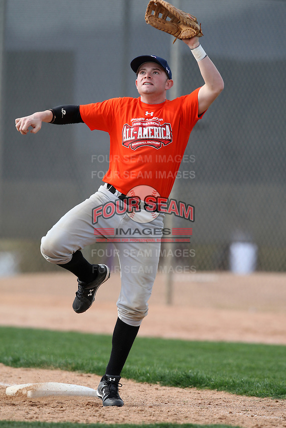 January 16, 2010:  Kyle Simon (Cooper City, FL) of the Baseball Factory Florida Team during the 2010 Under Armour Pre-Season All-America Tournament at Kino Sports Complex in Tucson, AZ.  Photo By Mike Janes/Four Seam Images