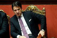 Giuseppe Conte<br /> Rome December 11th 2019. Discussion and vote about MES, European Stability Mechanism.<br /> Foto Samantha Zucchi Insidefoto