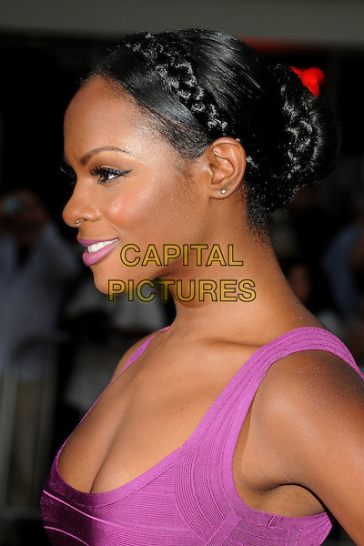 "Tika Sumpter.""What's Your Number?"" Los Angeles Premiere held at the Regency Village Theatre, Westwood, California, USA..September 19th, 2011.headshot portrait profile hair up braid plait pink purple  .CAP/ADM/BP.©Byron Purvis/AdMedia/Capital Pictures."