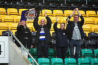 Bath Rugby supporters in the crowd celebrate the win. Aviva Premiership match, between Northampton Saints and Bath Rugby on September 3, 2016 at Franklin's Gardens in Northampton, England. Photo by: Patrick Khachfe / Onside Images