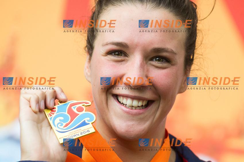 HUSKISSON Danielle GBR gold medal European Champion<br /> Hoorn, Netherlands <br /> LEN 2016 European Open Water Swimming Championships <br /> Open Water Swimming<br /> Women's 5km<br /> Day 02 12-07-2016<br /> Photo Giorgio Perottino/Deepbluemedia/Insidefoto