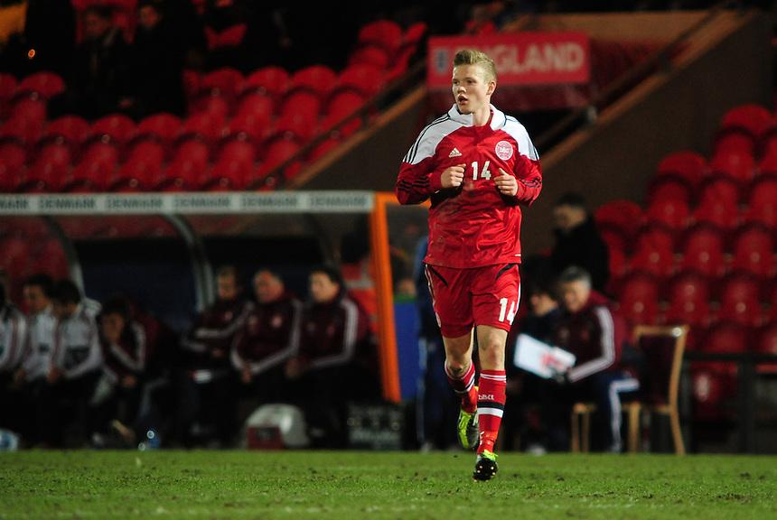 Denmark's Lucas Tomas Andersen ..Football - U19 International Friendly - England v Denmark - Tuesday 5th February 2013 - Keepmoat Stadium - Doncaster..