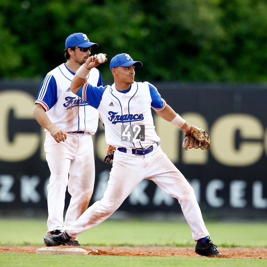 23 June 2011:  Yann Dal Zotto of Team France is seen during USSSA 5-3 win over France, at the 2011 Prague Baseball Week, in Prague, Czech Republic.