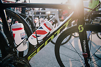 Simon Yates' (GBR/Mitchelton-Scott) bike before the start<br /> <br /> MEN ELITE ROAD RACE<br /> Kufstein to Innsbruck: 258.5 km<br /> <br /> UCI 2018 Road World Championships<br /> Innsbruck - Tirol / Austria