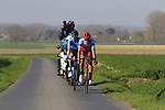 The 2nd group including Nils Politt (GER) Katusha Alpecin and Jasha Sutterlin (GER) Movistar Team on Driesstraat during the 2019 E3 Harelbeke Binck Bank Classic 2019 running 203.9km from Harelbeke to Harelbeke, Belgium. 29th March 2019.<br /> Picture: Eoin Clarke | Cyclefile<br /> <br /> All photos usage must carry mandatory copyright credit (© Cyclefile | Eoin Clarke)