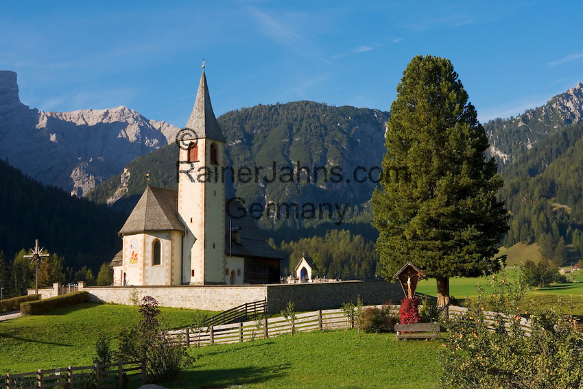 Italy, South Tyrol, Alto Adige, Upper Pusteria Valley, San Vito: parish church