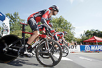 Team BMC off the start ramp<br /> <br /> Elite Men&rsquo;s Team Time Trial<br /> UCI Road World  Championships Richmond 2015