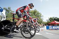 Team BMC off the start ramp<br /> <br /> Elite Men's Team Time Trial<br /> UCI Road World  Championships Richmond 2015