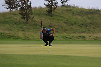 Sebastian Heisele (GER) on the 2nd green during Round 1 of the Bridgestone Challenge 2017 at the Luton Hoo Hotel Golf &amp; Spa, Luton, Bedfordshire, England. 07/09/2017<br /> Picture: Golffile   Thos Caffrey<br /> <br /> <br /> All photo usage must carry mandatory copyright credit     (&copy; Golffile   Thos Caffrey)