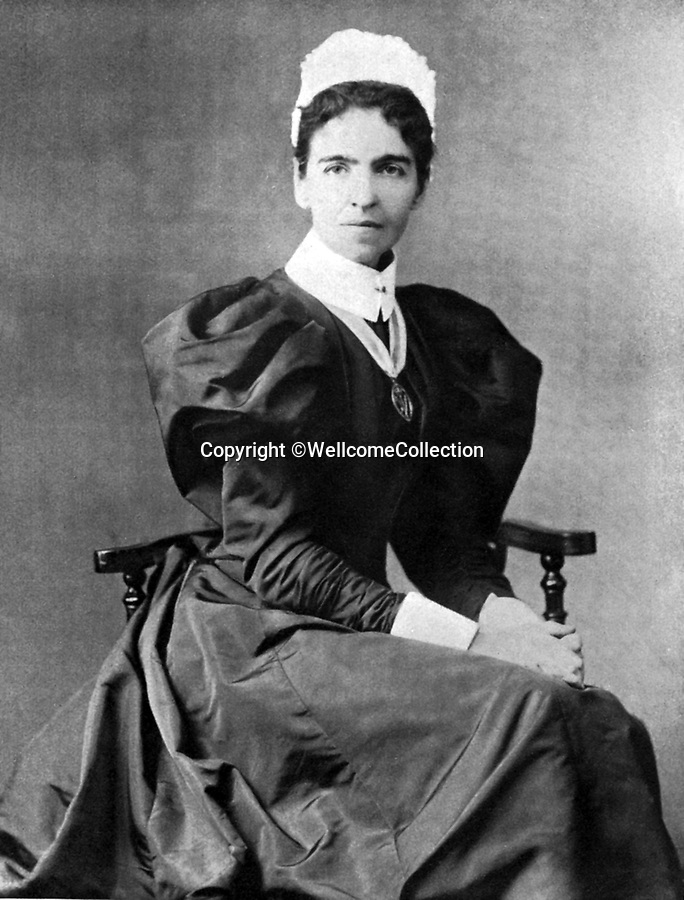 BNPS.co.uk (01202 558833)<br /> Pic: Amberley/BNPS<br /> <br /> Pictured: Rosalind Pagnet, while she was the first Inspector of the Queen's Nursing Institute.<br /> <br /> These rarely seen photos which provide a fascinating insight into British nursing in late 19th century feature in a new book.<br /> <br /> They reveal how the all-action nurses not only cared for patients but also prepared meals for them and did their laundry.<br /> <br /> Such was their ferocious work ethic, it is perhaps surprising they had time to be pictured sitting down together in the nurses dining room.<br /> <br /> One photo shows trainee nurses during a bandaging class, while another is of a busy male ward.<br /> <br /> The images are published in A History of Nursing, by former nurse Louise Wyatt who has charted the development of nursing from antiquity and the Middle Ages to the present day.