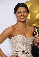28 February 2016 - Hollywood, California - Priyanka Chopra. 88th Annual Academy Awards presented by the Academy of Motion Picture Arts and Sciences held at Hollywood & Highland Center. Photo Credit: Byron Purvis/AdMedia