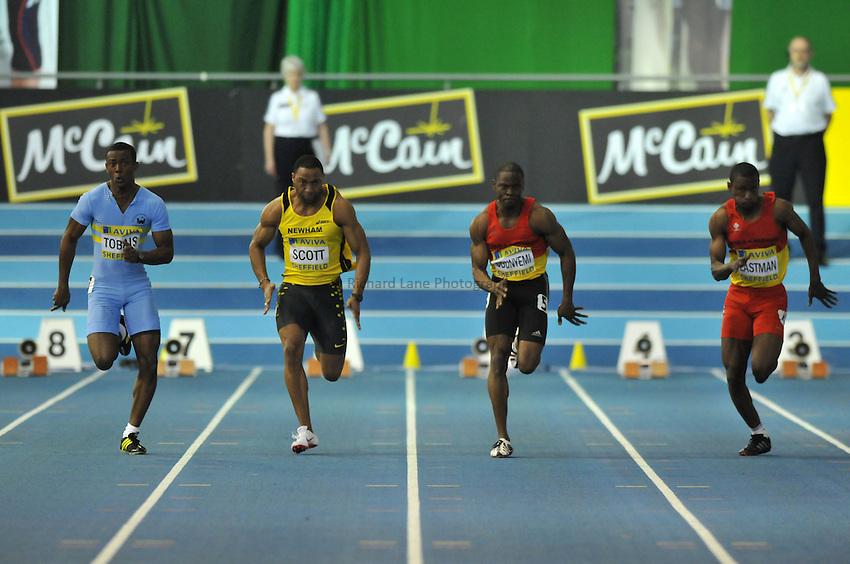 Photo: Tony Oudot/Richard Lane Photography. Aviva World Trials & UK Championships. 13/02/2010. .Mens 60m.