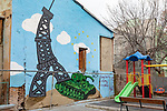 Eiffel Tower & Tank Mural
