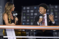 BROOKLYN, NY - DECEMBER 20: (L-R Kate Abdo and Shawn Porter attend the Fox Sports and Premier Boxing Champions press conference for the December 22 Fox PBC Fight Night at the Barclay Center on December 20, 2018 in Brooklyn, New York. (Photo by Anthony Behar/Fox Sports/PictureGroup)