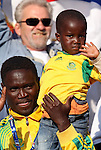 13 JUN 2010:  Ghana fans in the stands with the future of the beautiful game.  The Serbia National Team played the Ghana National Team at Loftus Versfeld Stadium in Tshwane/Pretoria, South Africa in a 2010 FIFA World Cup Group D match.