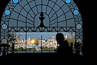 Built in 1955 to mark the site where Jesus paused to weep over Jerusalem on the Mount of Olives, according to the Gospel of Luke. The Franciscan Basilica of Dominus Flevit features a beautiful view of the Old City of Jerusalem through its distinct chapel window.