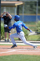 Toronto Blue Jays outfielder D.J. Davis (4) during a minor league spring training game against the New York Yankees on March 16, 2014 at Englebert Minor League Complex in Dunedin, Florida.  (Mike Janes/Four Seam Images)