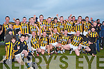 CHAMPIONS: The Abbeydorney Minor team winners of the Keane's County Minor Hurling Championship Final in Ballyheigue on Saturday pictured Ger Meehan, Liam Cleary, Danny McDonagh, Mick McDonnell, Stephen O'Connor, John McKenna, Daniel O'Leary, Daniel O'Mahony, Paul O'Connor, Damien Healy, Andrew Egan, James O'Connor, Robert Murphy, Padraig Kelly, Alban Stack, Adam Maunsell, Neil Mahony, Owen McCarthy, Cian McCarthy, Tony Cunningham, Brian Leen, Christopher McCarthy, Dara O'Connell, P J Keane, Jason Fealy, Oisin Maunsell, Aidan Leahy and John Hanarhan.   Copyright Kerry's Eye 2008