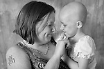 Pediatric patient Alyssa F is pictured with her mother on June 22, 2010, at the American Family Children's Hospital in Madison, Wis. The photography session is coordinated by Flashes of Hope, a nonprofit organization dedicated to creating uplifting portraits of children fighting cancer and other life-threatening illnesses.