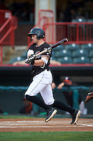 Erie SeaWolves center fielder Connor Harrell (10) during a game against the Bowie Baysox on May 12, 2016 at Jerry Uht Park in Erie, Pennsylvania.  Bowie defeated Erie 6-5.  (Mike Janes/Four Seam Images)