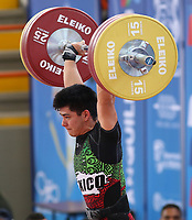 BARRANQUILLA - COLOMBIA, 22-07-2018:Competidor Jorge Cardenas de México , levantamiento de  pesas ,  Modalidad Arranque .Juegos Centroamericanos y del Caribe Barranquilla 2018. / Competitor Jorge Cardenas of  Mexico  in weightlifting Modality Start of the Central American and Caribbean Sports Games Barranquilla 2018. Photo: VizzorImage /  Contribuidor