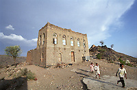 A house in the Shameer region of southern Yemen which is owned by a family now living in the UK. It is occupied by members of their extended family. For centuries men have been leaving this poor, rural and mountainous area to seek work elsewhere.