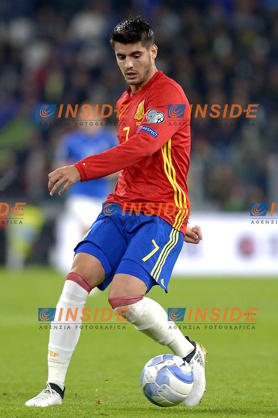 Alvaro Morata Spain,<br /> Torino 06-10-2016 Juventus Stadium <br /> World Cup Qualifiers Italy - Spain / Italia - Spagna. Foto Filippo Alfero / Insidefoto