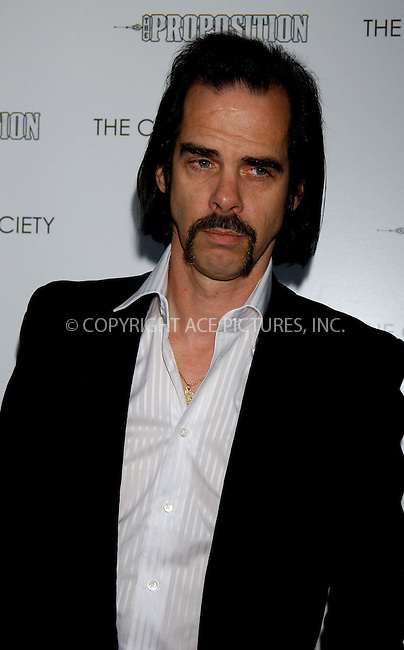 WWW.ACEPIXS.COM . . . . . ....NEW YORK, APRIL 27, 2006....Nick Cave at the NY Premiere of First Look Pictures 'The Proposition'.....Please byline: KRISTIN CALLAHAN - ACEPIXS.COM.. . . . . . ..Ace Pictures, Inc:  ..(212) 243-8787 or (646) 679 0430..e-mail: picturedesk@acepixs.com..web: http://www.acepixs.com
