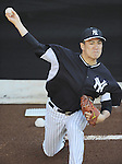 Masahiro Tanaka (Yankees),<br /> FEBRUARY 18, 2014 - MLB : Pitcher Masahiro Tanaka of the New York Yankees throws in the bullpen during team's spring training camp in Tampa, Florida, United States. <br /> (Photo by AFLO)