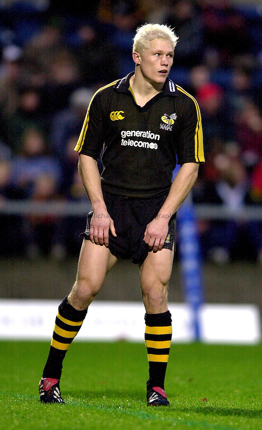 Photo. Richard Lane.London Wasps v Leeds Tykes. Zurich Premiership. 24/11/2002..Josh Lewsey
