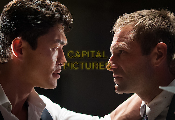 Rick Yune, Aaron Eckhart<br /> in Olympus Has Fallen (2013) <br /> *Filmstill - Editorial Use Only*<br /> CAP/NFS<br /> Image supplied by Capital Pictures