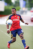 Real Salt Lake's Robbie Findley controls the ball in the Real Salt Lake 2-1 win over New England Revolution on June 21, 2008 at Rice-Eccles Stadium in Salt Lake City, Utah.