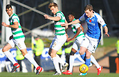 4th November 2017, McDiarmid Park, Perth, Scotland; Scottish Premiership football, St Johnstone versus Celtic; Stuart Armstrong and Blair Alston