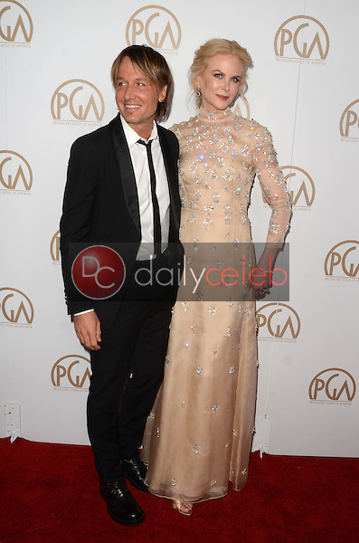Keith Urban, Nicole Kidman<br /> at the 2017 Producers Guild Awards, Beverly Hilton Hotel, Beverly Hills, CA 01-28-17<br /> David Edwards/DailyCeleb.com 818-249-4998