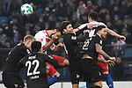 20.01.2018,  GER; 1.FBL Hamburger SV vs 1. FC Koeln, im Bild alle Spieler kaempfen um den Eckball  Foto © nordphoto / Witke *** Local Caption ***