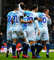 Blackburn Rovers' Jack Rodwell celebrates scoring his side's second goal with teammates<br /> <br /> Photographer Alex Dodd/CameraSport<br /> <br /> The EFL Sky Bet Championship - Blackburn Rovers v Hull City - Saturday 26th January 2019 - Ewood Park - Blackburn<br /> <br /> World Copyright © 2019 CameraSport. All rights reserved. 43 Linden Ave. Countesthorpe. Leicester. England. LE8 5PG - Tel: +44 (0) 116 277 4147 - admin@camerasport.com - www.camerasport.com