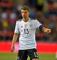 01.09.2017, Football WM-Qualifikation, 7. match day, Tschechien - Germany, in Prag, stadium Eden. Thomas Mueller (Germany)  *** Local Caption *** +++ NED + SUI out +++<br /> Contact: +49-40-22 63 02 60 , info@pixathlon.de