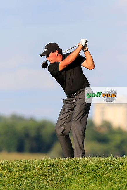 Phil Mickelson (USA) tees off the 10th tee during Friday's Round 2 of the 2016 U.S. Open Championship held at Oakmont Country Club, Oakmont, Pittsburgh, Pennsylvania, United States of America. 17th June 2016.<br /> Picture: Eoin Clarke | Golffile<br /> <br /> <br /> All photos usage must carry mandatory copyright credit (&copy; Golffile | Eoin Clarke)