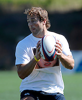 Photo: Richard Lane...England Rugby Training Camp, Portugal. 04/07/2007. ..England's Andy Gommarsall, wearing a 'Find Madeleine' tie shirt in support of Madeleine McCann.