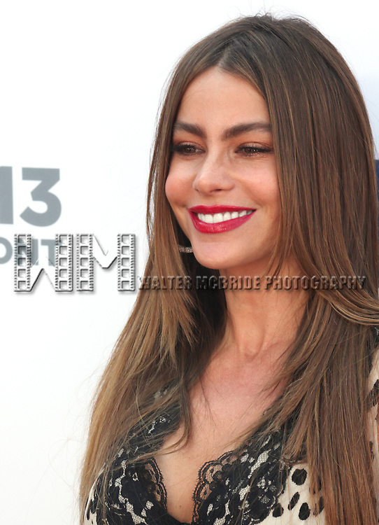 Sofia Vergara attending the USA Network 2013 Upfront Event at Pier 36 - Basketball City in New York City on May 16, 2013.