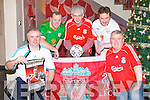 YOU'LL NEVER WALK ALONE: Kerry Liverpool supporters club who will host Ireland and Liverpool legend John Aldridge at the Ballyroe Heights hotel Thursday 8th of December at 7:30pm with profits raised going to Tralee MS society and Kerry CF association front l-r: Mike Lynch amd Henry Burrows (chairman Tralee MS society). Back l-r: Leo Byrne (chairman KLSC), Mark O'Sullivan (manager Ballyroe Heights hotel) and Ray Spillane (Kerry CF association).