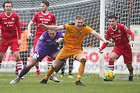 Joe Wright of Hornchurch tangles with James Richmond of Merstham during Hornchurch vs Merstham, BetVictor League Premier Division Football at Hornchurch Stadium on 15th February 2020